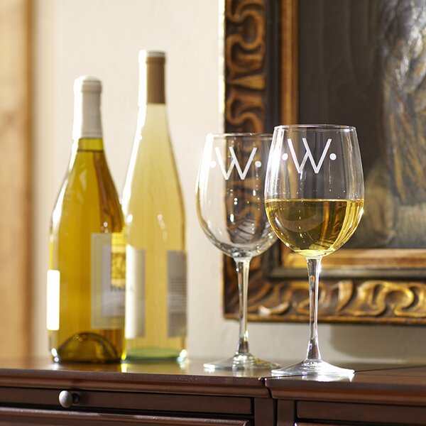 Monogrammed Classic Wine Glasses (Set of 4) by Birch Lane™