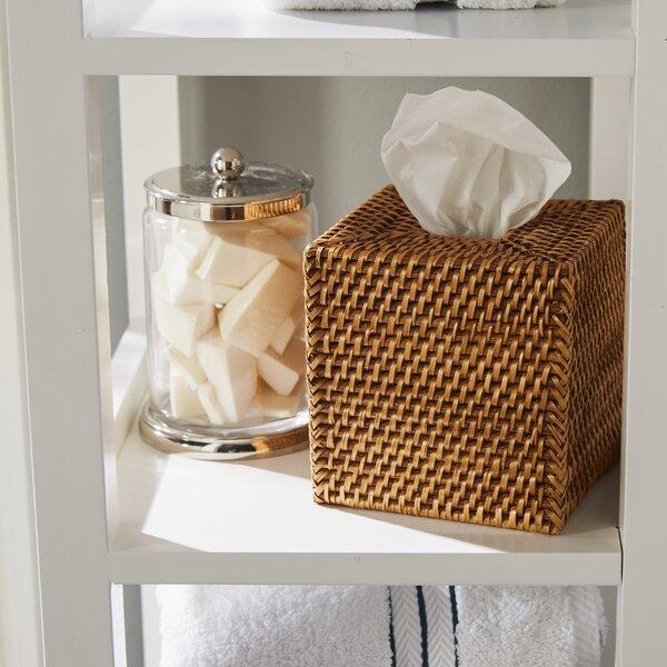 Sylvia Square Rattan Tissue Box Cover by Beachcrest Home