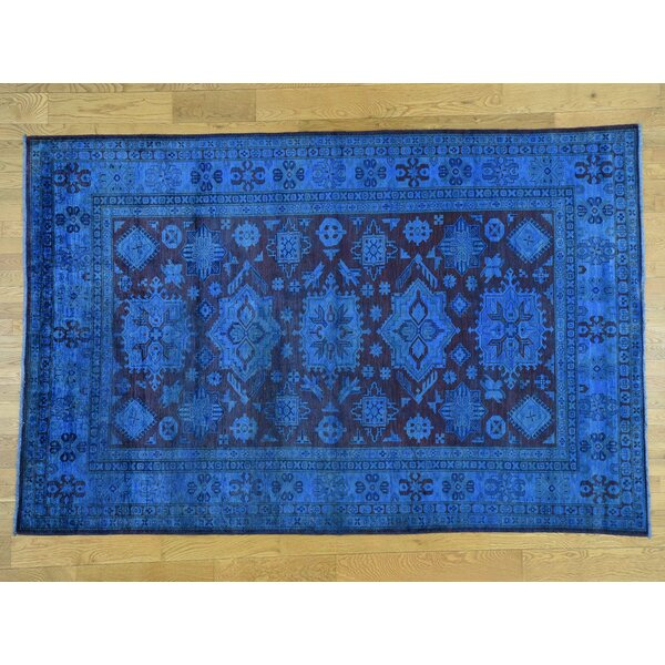 One-of-a-Kind Bechtold Overdyed Handwoven Wool Area Rug by Isabelline