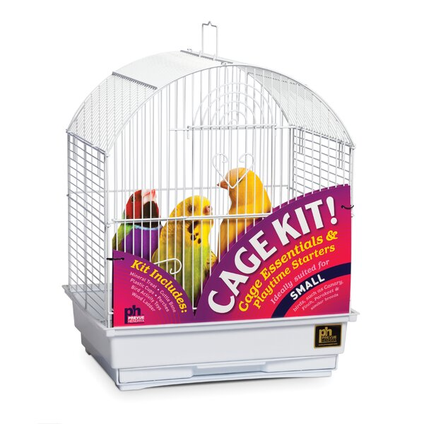 Round Top Parakeet Bird Starter Kit by Prevue Hendryx