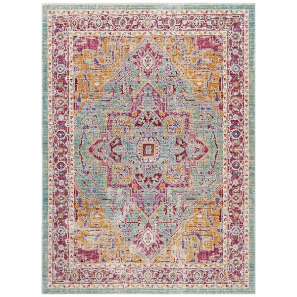 Justine Aqua Area Rug by Bungalow Rose