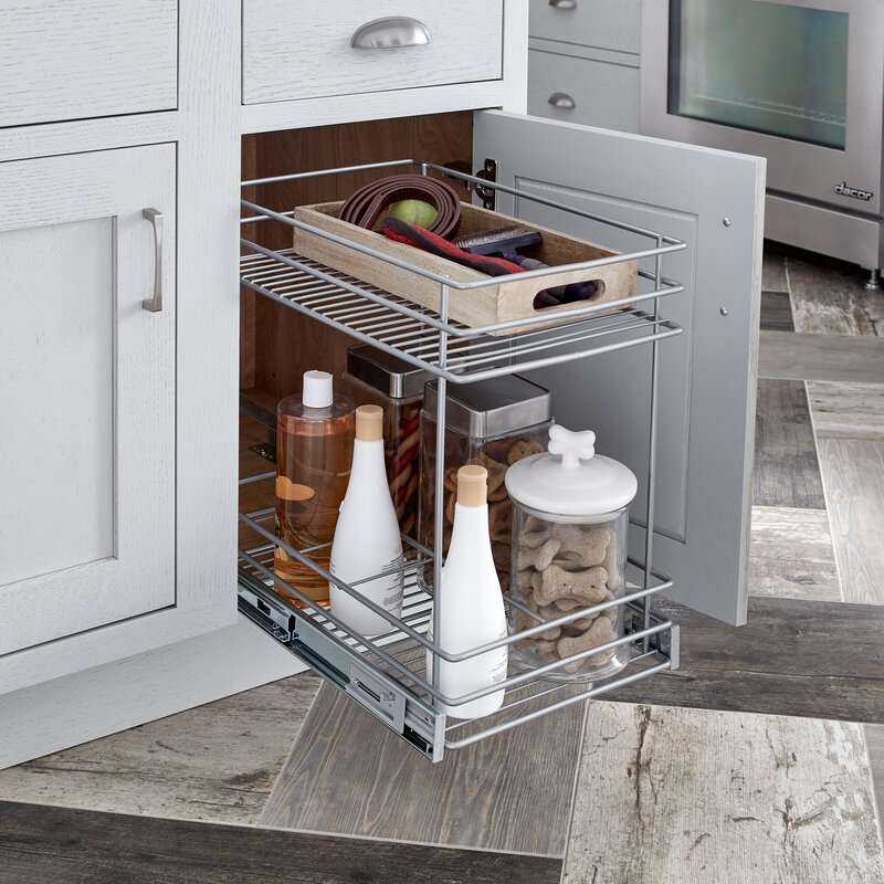 Beau 2 Tier Kitchen Cabinet Pull Out Basket