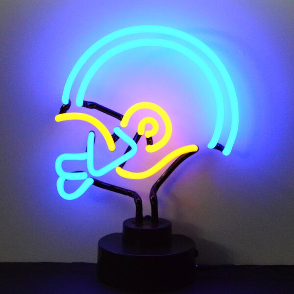 Sports Football Helmet Neon Sign by Neonetics