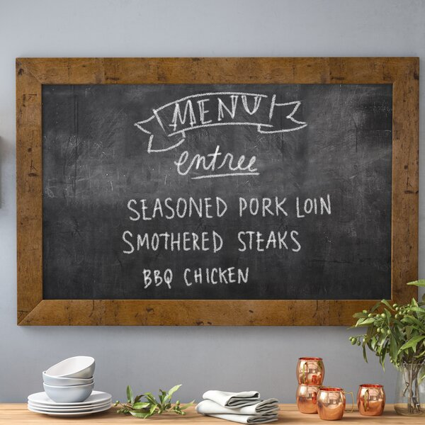 Rustic Light Wall Mounted Chalkboard by Loon Peak