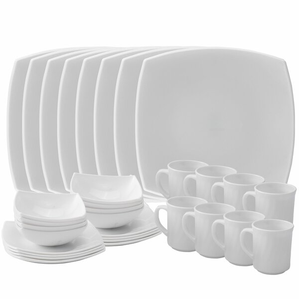Platinum Opal 32 Piece Dinnerware Set, Service for 8 by Red Barrel Studio