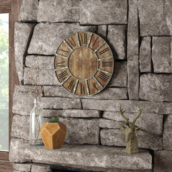 Oversized 23 Printed Wall Clock by Laurel Foundry Modern Farmhouse