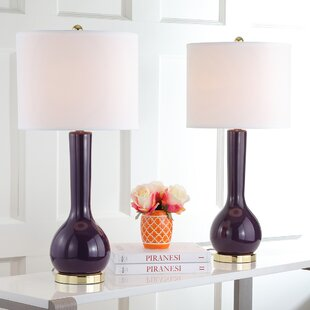 Purple table lamps youll love save aloadofball Image collections