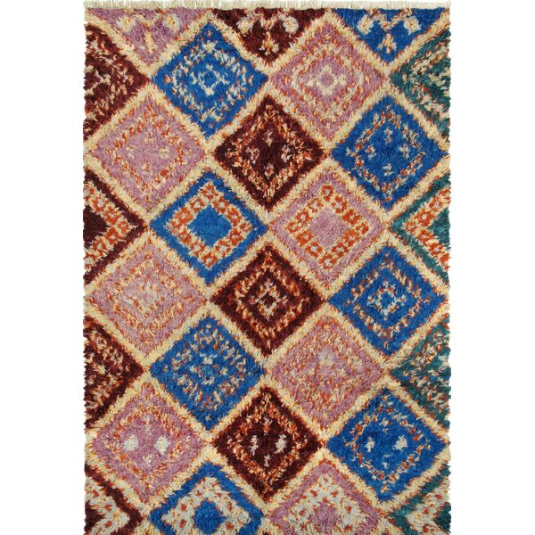 Moroccan Hand-Knotted Multi-Colored Area Rug by Pasargad