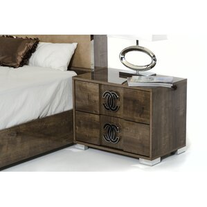 Fruge 2 Drawer MDF Nightstand by Orren..