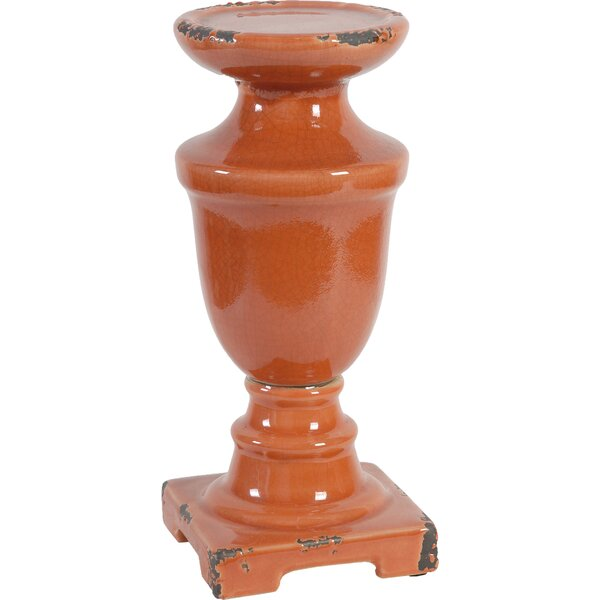 Clara Ceramic Candlestick by Bungalow Rose