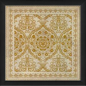 Tile 9 Framed Graphic Art by The Artwork Factory