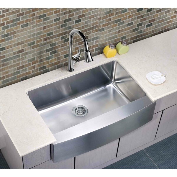 33 L x 22.25 W Under Mount Single Bowl Kitchen Sink by Dawn USA