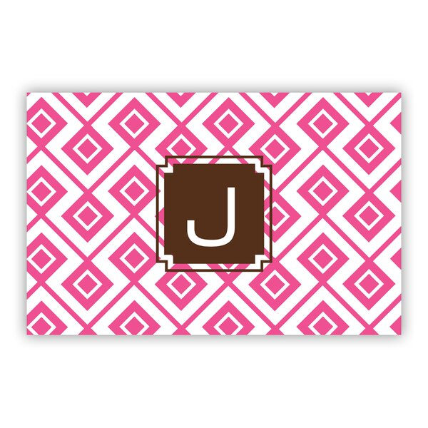 Lucy Single Initial Laminated Placemat by Dabney Lee