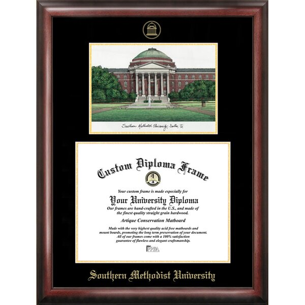 NCAA Gold Embossed Diploma Frame with Campus Images Lithograph Frame by Campus Images