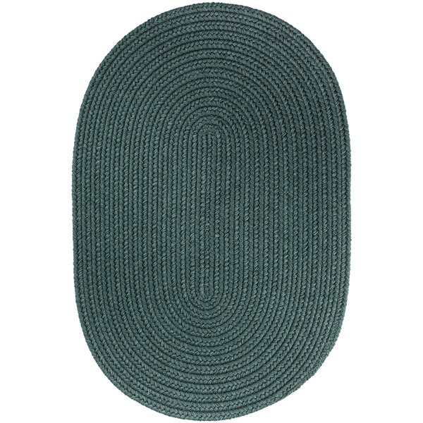 Handmade Teal Indoor/Outdoor Area Rug by The Conestoga Trading Co.