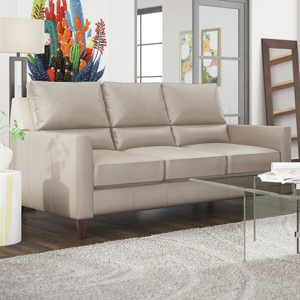Broad Leather Sofa by Latitude Run