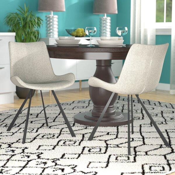 Brownlee Side Chair in Linen - Light Gray (Set of 2) by Brayden Studio