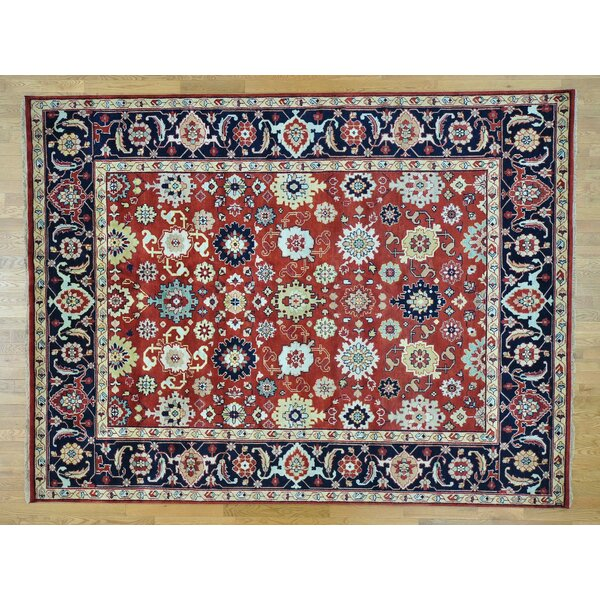 One-of-a-Kind Bingham Mahal All Over Design Hand-Knotted Red Wool Area Rug by Isabelline