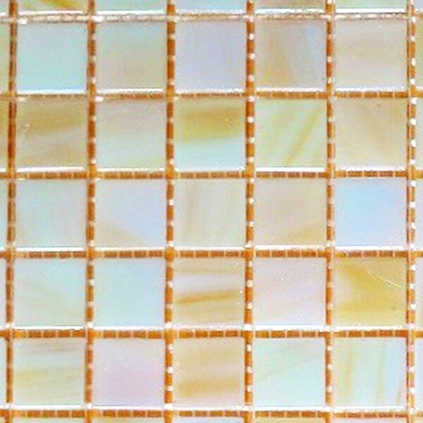 0.75 x 0.75 Glass Mosaic Tile in Beige/Peach by Bellaterra Home