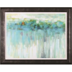Lights On The Beach by Karen Lorena Parker Framed Painting Print by Art Effects