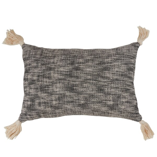 Zeller Solid Tone Tasseled Design Cotton Lumbar Pillow by Gracie Oaks