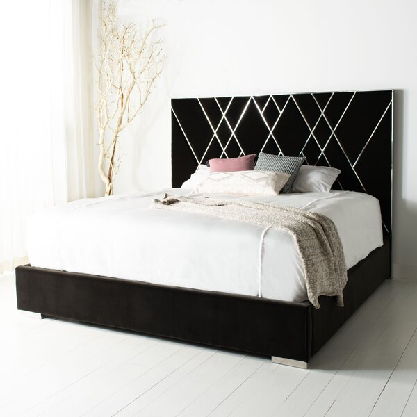 Alldredge King Upholstered Standard Bed by Everly Quinn