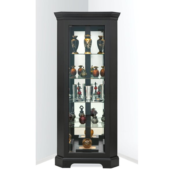 Newport II Lighted Corner Curio Cabinet by Philip Reinisch Co.