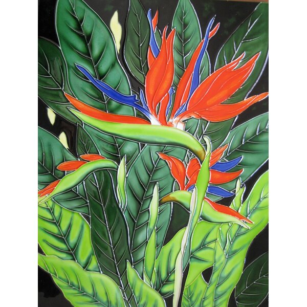 Bird Of Paradise Tile Wall Decor by Continental Art Center