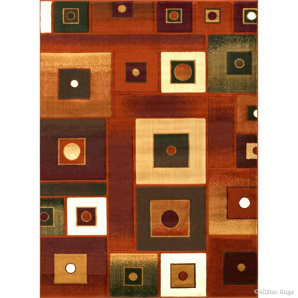 Fuller Rust Area Rug by Ebern Designs