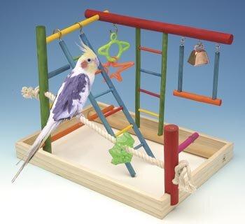 Large Wooden Playground Bird Activity Center by Penn Plax