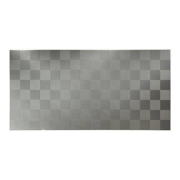 Quattro 48 x 96 PVC Backsplash Panel in Argent Silver by Fasade