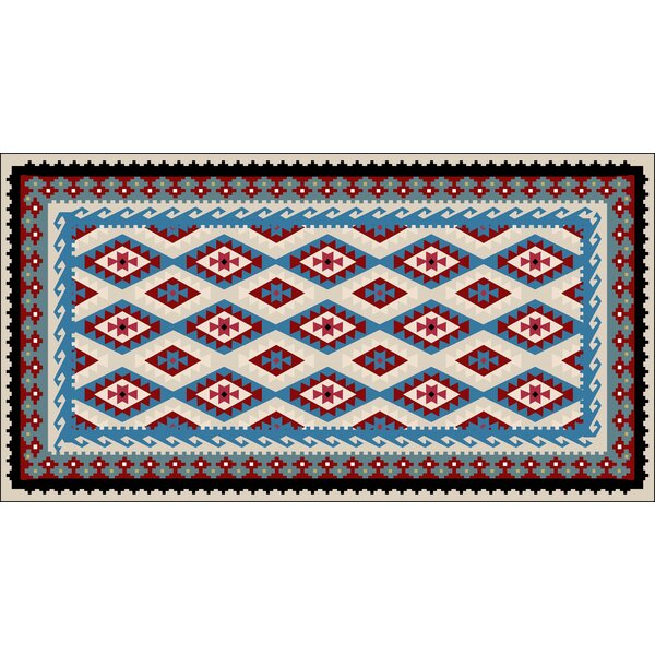 Reitz Blue/Red Indoor/Outdoor Area Rug by Loon Peak