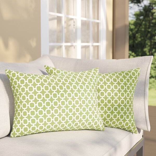 Samantha Geometric Indoor/ Outdoor Lumbar Pillow (Set of 2) by Latitude Run