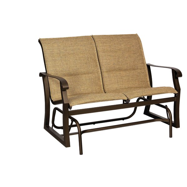 Cortland Padded Sling Glider Loveseat by Woodard