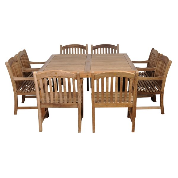 Amazonia Knoxville Teak 9 Piece Dining Set by International Home Miami