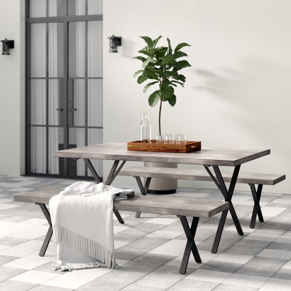 Noreen 3 Piece Outdoor Dining Set by Greyleigh