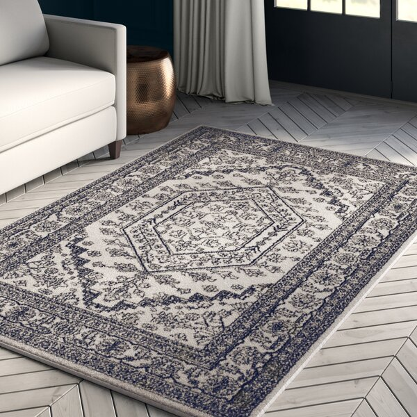 Connie Ivory/Navy Area Rug by Greyleigh