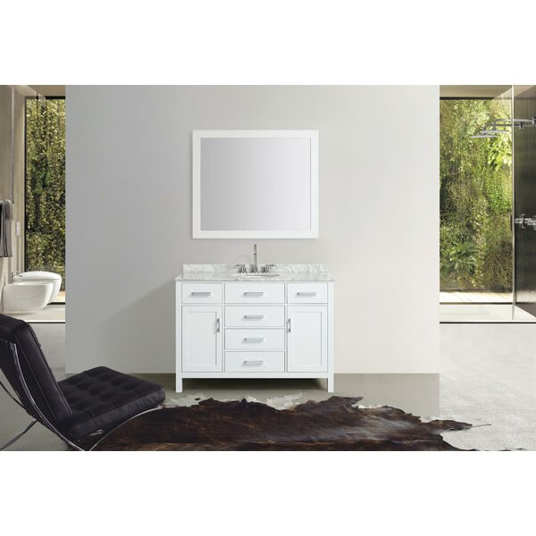Weatherford 49 Single Bathroom Vanity Set with Mirror by Orren Ellis