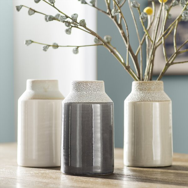 Baldric Ceramic Table Vase (Set of 3) by Trent Austin Design