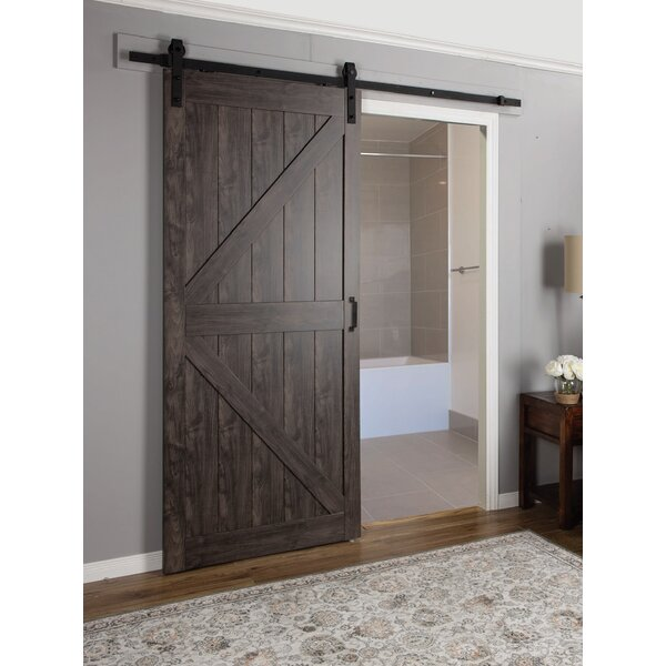 Continental MDF Engineered Wood 1 Panel Interior Barn Door by Erias Home Designs