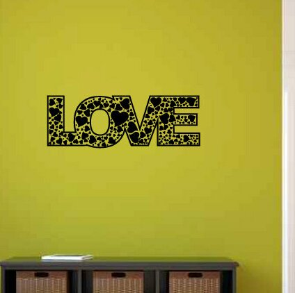 Ainsworth Love with Hearts Wall Decal by Zoomie Kids