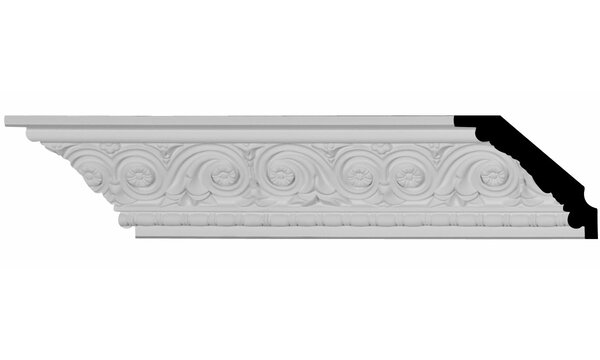 Floral 2 3/4 H x 94 1/2 W x 3 1/4 D Crown Molding by Ekena Millwork
