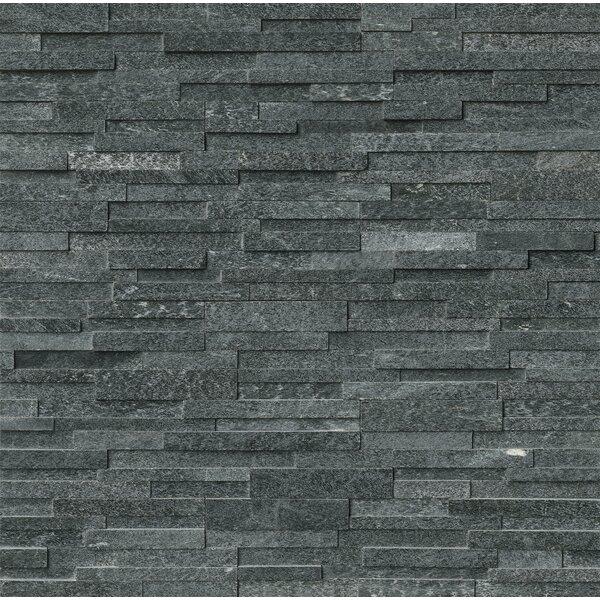 6 x 24 Quartzite Splitface Tile in Black by MSI