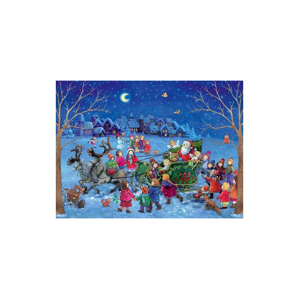 Sellmer Santa with Sleigh Advent Calendar by The Holiday Aisle