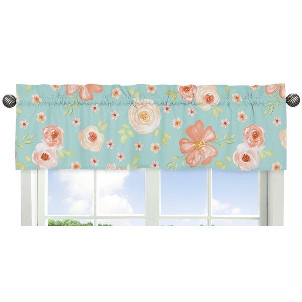 Watercolor Floral 54 Window Valance by Sweet Jojo Designs