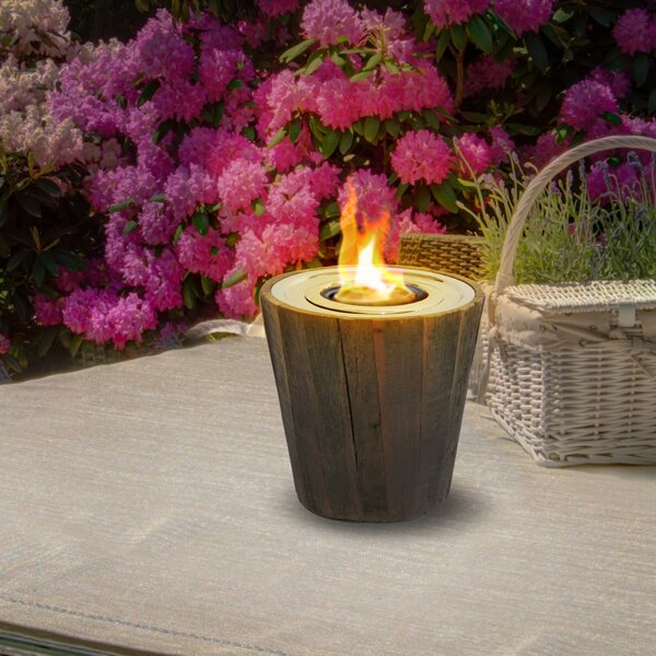 Montauk Reclaimed Wood Gel Tabletop Fireplace by Anywhere Fireplace