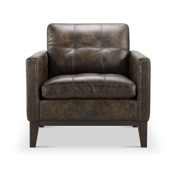 Quinto Leather Armchair by Union Rustic Union Rustic