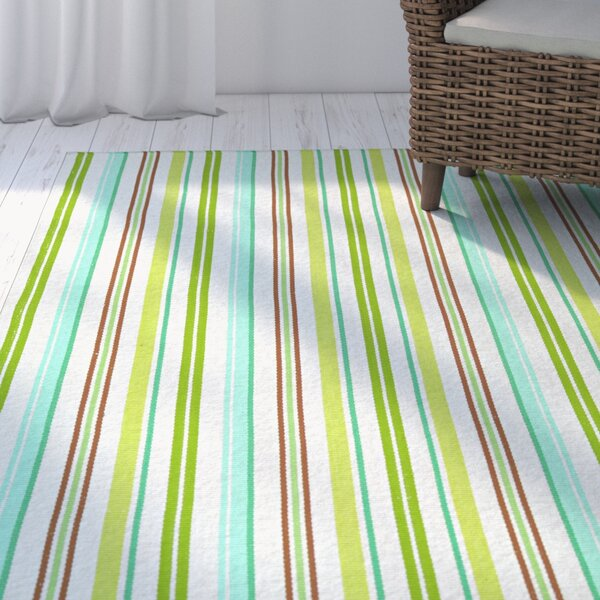 Artique Hand-Woven Caribbean Breeze/Green Area Rug by Highland Dunes