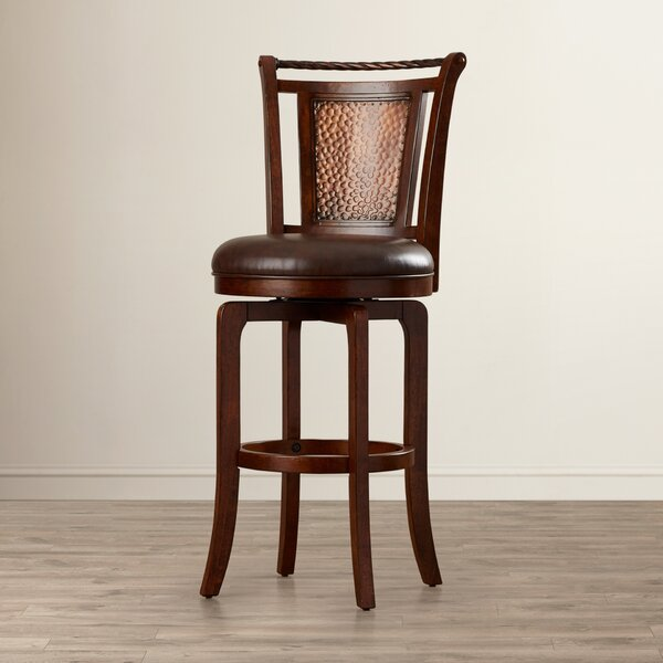 Ali 30.5 Swivel Bar Stool by World Menagerie