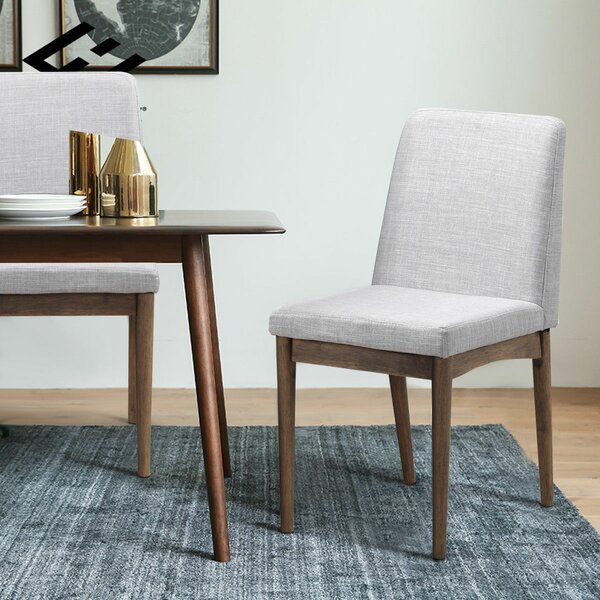 Eaves Upholstered Dining Chair (Set of 2) by George Oliver